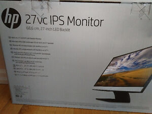 "27"" hp ips Backlit monitor bnib"