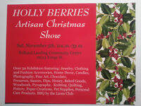 Vendors wanted- Holly Berries Artisan Christmas Show