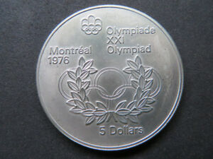 Canada 1974  $5 Silver Olympic Coin