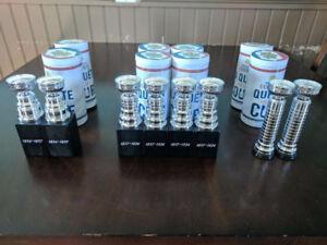 8 Molson NHL Hockey Mini Stanley Cup