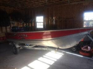 14 foot aluminum boat and 20 hp
