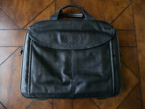 Leather Dell Laptop and Document Bag