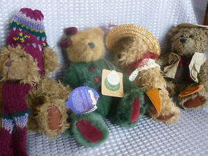 4 collectable teddy bears-individual prices
