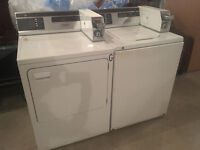 GE coin op washer and dryer