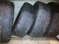 michelin hydroedge 185 65 14 tires 4 x 100 rims set + extra tire