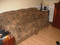 Beautiful comfortable Tapestry quality couch