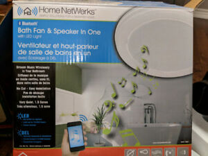 Bath Fan and Speaker all in one with LED light