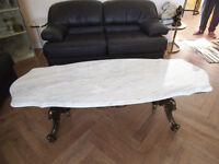 Table salon en marbre