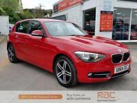BMW 1 SERIES 116I SPORT 2014 Petrol Manual in Red