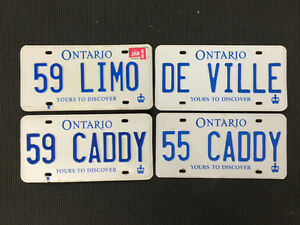 CADILLAC, FORD, CHEVROLET  PERSONAL PLATES