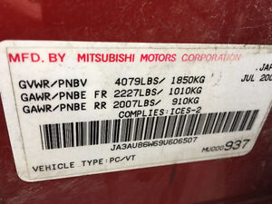 2009 Mitsubishi Lancer special edition Sedan**2 sets of wheels** London Ontario image 16