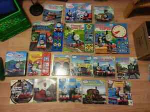 LOT OF 16 THOMAS AND FRIENDS BOOKS AND DVD BINGO