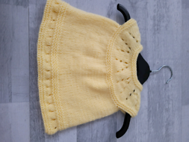 Hand Knitted Prem Baby Dress