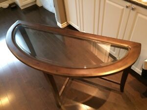 Sofa Table W Glass Edmonton 01 01 2017 Solid Wood Sofa Table W Glass