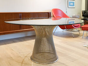 Authentic Warren Platner Dining Table for Knoll