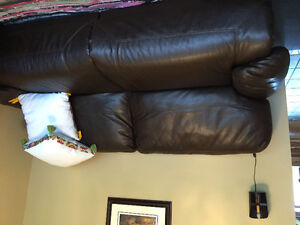 Power seat leather couch