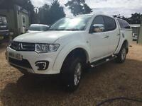 MITSUBISHI L200 DI-D 4X4 BARBARIAN LB DCB fully loaded AUTO, White, Auto, Diesel