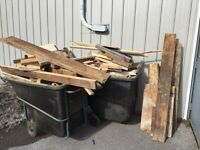 FREE scrap wood - great for kindling, also some usable pieces