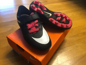 Girls youth NIKE Soccer Cleats,  size  12