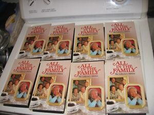 10 ALL IN THE FAMILY THE COLLECTOR'S EDITION VHS MOVIES.