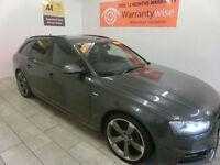 2013 Audi A4 Avant 2.0TDI 177 Avant S-LINE Black Edition **BUY FOR £69 A WEEK **