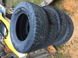 2 - 255/70R16 ALL TERAIN TIRES FOR SALE / TRADE