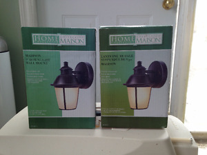 Wall mount porch lights