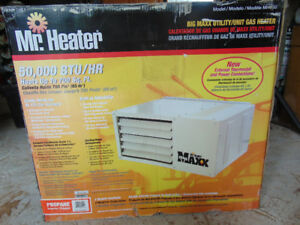 50.000 btu mr heater brand new with new exhaust piping