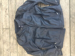 Leather harley davidson riding jacket