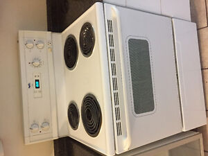 White electric stove with fan London Ontario image 1