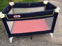 Little tykes travel cot / playpen nice clean condition