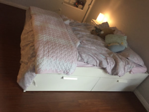 Ikea Brimnes Bed Frame with Storage