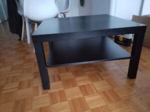 Table Ikea lack carrée noire grande