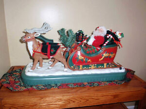 Santa and sleigh ornament