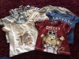 Baby boys 9-12 months tops bundle