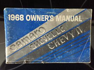 Manuel Camaro,Chevy et Chevelle 1968