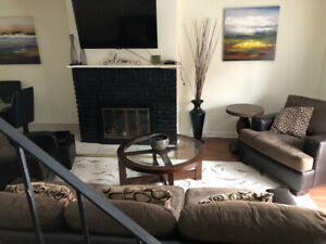 FURNISHED/EQUIPPED  4 BR  HOUSE , BBQ DECK, YARD