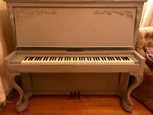 Gorgeous painted Haines & Bros Piano
