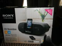 Sony CD boombox dock for i phone 5