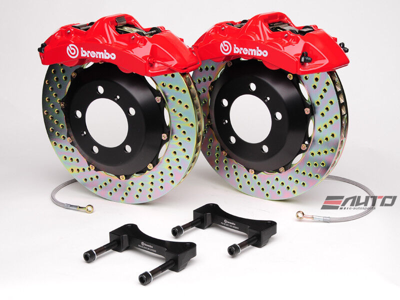Brembo Front Gt Big Brake Kit 6pot Red 355x32 Drill Disc Corvette C5 97-04