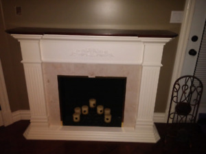 Stand alone faux fireplace