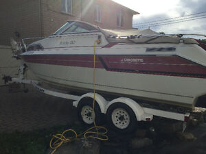 Beautiful Cadorette Holiday 210 + Trailer in Perfect Condition