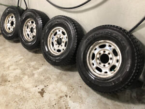 4 Goodyear Winter Tires on Factory GMC Alloy Rims - LT265/75R16