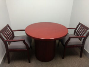 Office Furniture - A Table and Two Chairs