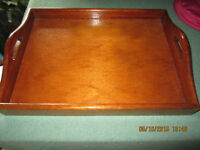 VERY BEAUTIFUL SOLID SERVING TRAY WITH HANDLES