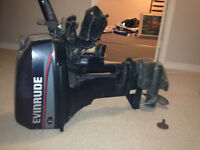 Evinrude Outboard Motor W/ Gas Tank