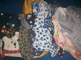 Girls 9-12 bundle Coat jumper tshirts Dresses long short sleeve Nex