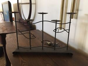 Iron wall and table candle holders