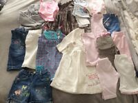 Small job lot of baby girls clothes new baby- 6 mths