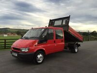 Ford transit 90 t350 double cab tipper, 2005 (55) reg, tested, in red
